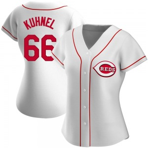 Women's Joel Kuhnel Cincinnati Reds Authentic White Home Jersey