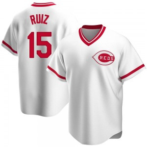 Youth Chico Ruiz Cincinnati Reds Replica White Home Cooperstown Collection Jersey