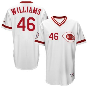 Youth Majestic Mason Williams Cincinnati Reds Authentic White Cool Base Turn Back the Clock Team Jersey